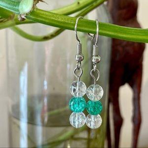 Crackle Glass Earrings